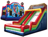 Super Package Mega Slide themed Bouncer