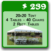 tent tables and chairs