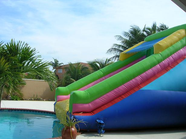 Rock Climbing Water Slide
