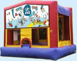 The Cat in the Hat bounce house